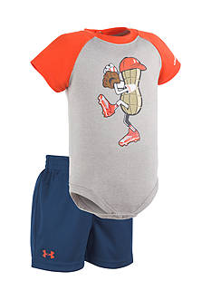 Under Armour® 2-Piece Peanut Pitcher Bodysuit and Short Set