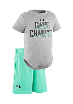 Under Armour® 2-Piece Game Charger Bodysuit and Shorts Set