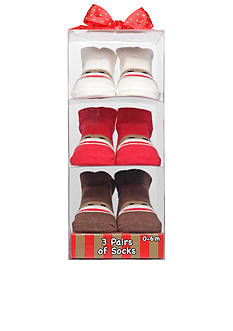 Rashti & Rashti® 3-Pack Sock Monkey Socks Set