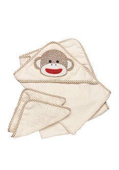 Rashti & Rashti Sock Monkey Hooded Towel