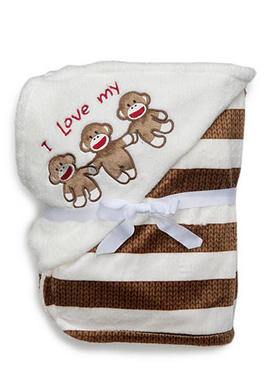 Rashti & Rashti® Sock Monkey Love Blanket