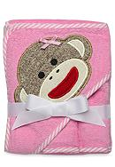 Rashti & Rashti® Sock Monkey Hooded Towel &
