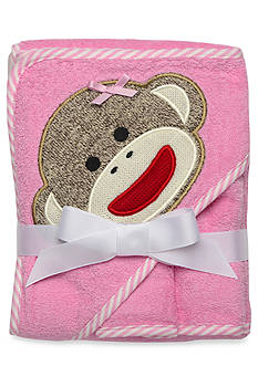 Rashti & Rashti Sock Monkey Hooded Towel & Washcloth Set