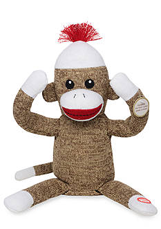 Rashti & Rashti® Interactive Sock Monkey Plush