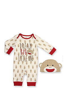 Rashti & Rashti® 2-Piece Sock Monkey Iconic Collection Coverall and Hat Set