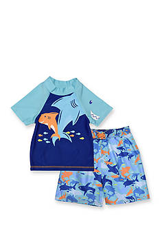 Candlesticks&reg 2-Piece Shark Swim Set Toddler Boys