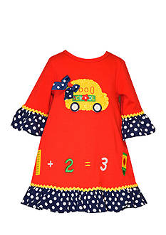 Bonnie Jean Back To School Bus Dress Toddler Girls