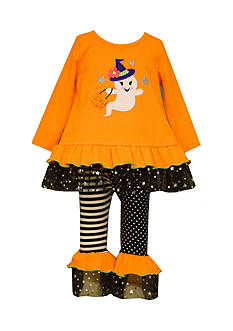 Bonnie Jean Ghost Halloween Top and Legging 2-Piece Set Toddler Girls