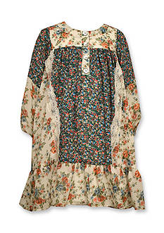 Bonnie Jean Mixed Floral Boho Float Dress Toddler Girls