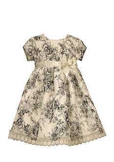 Bonnie Jean Toile Shantung Dress Toddler Girls