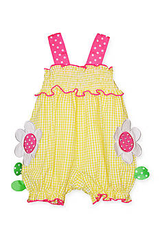 Bonnie Jean® Flower Seersucker Romper Toddler Girls