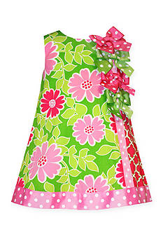 Bonnie Jean® Floral Bow Shift Dress Toddler Girls