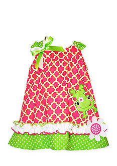 Bonnie Jean® Leaping Frog Print Dress Toddler Girls