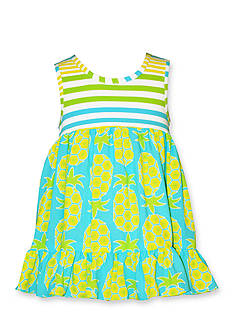 Bonnie Jean® Stripe Pineapple Challis Dress Toddler Girls