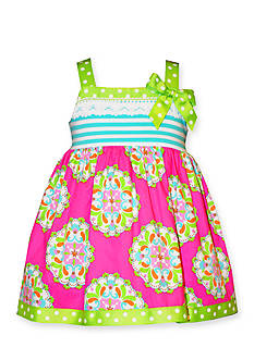 Bonnie Jean® Stripe to Medallion Woven Dress Toddler Girls