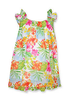 Bonnie Jean® Tropical Chiffon Float Dress Toddler Girls