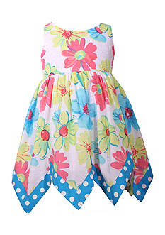 Bonnie Jean Floral Handkerchief Dress Toddler Girls