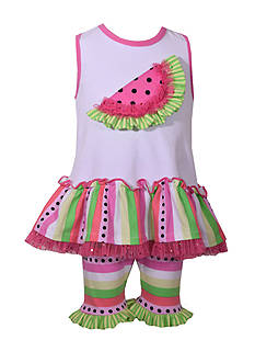 Bonnie Jean Watermelon Dress and Bike Short 2-Piece Set Toddler Girls
