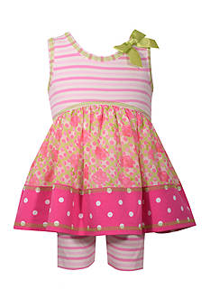 Bonnie Jean Patterned Dress and Bike Short 2-Piece Set Toddler Girls