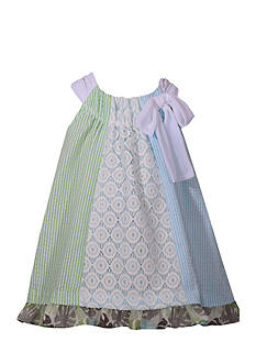 Bonnie Jean Multi Print Seersucker Dress Toddler Girls