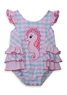Bonnie Jean Seahorse Coverall Toddler Girls