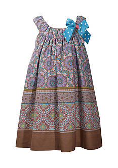 Bonnie Jean Multi Print Trapeze Dress Toddler Girls