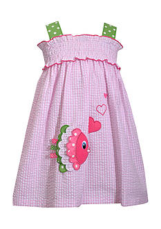 Bonnie Jean Fish Seersucker Dress Toddler Girls