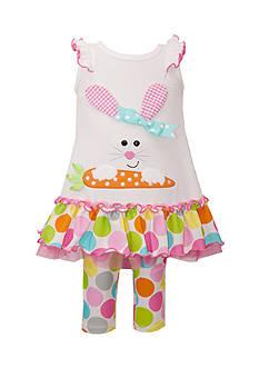 Bonnie Jean 2-Piece Bunny Top and Leggings Set