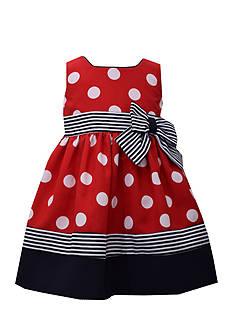 Bonnie Jean Nautical Polka Dot Dress
