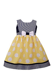 Bonnie Jean Nautical Polka Dot Dress