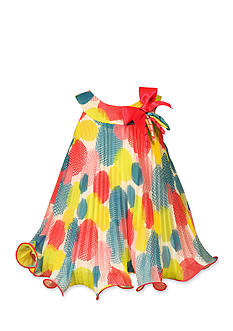 Bonnie Jean® Dot Crystal Pleated Float Dress-Toddler Girls