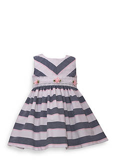 Bonnie Jean Stripe Dress With Mitered Bodice Toddler Girls