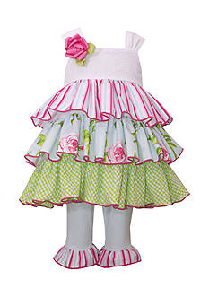 Bonnie Jean 2-Piece Tiered Ruffle dress and Leggings Set Toddler Girl