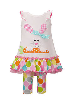 Bonnie Jean Bunny Tunic and Leggings Set Toddler Girls
