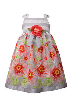 Bonnie Jean Striped Floral Dress Toddler Girls
