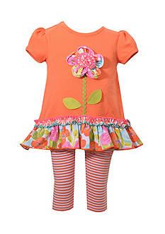 Bonnie Jean 2-Piece Flower Tutu and Leggings Set