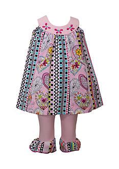 Bonnie Jean 2-Piece Heart Pattern Dress and Leggings Set