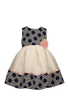 Bonnie Jean Polka Dot Empire Waist Dress