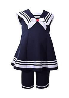 Bonnie Jean Nautical Dress and Capri Leggings Set