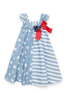 Bonnie Jean Stars and Stripes Chambray Dress Toddler Girls