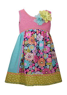 Bonnie Jean Multi Print Dress Toddler Girls