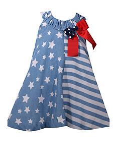 Bonnie Jean 2-Piece Chambray Stars and Stripes Dress Set