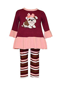 Bonnie Jean Infant Dog Sweater Dress and Leggings Set
