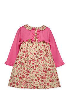 Bonnie Jean Cardigan and Floral Dress Set
