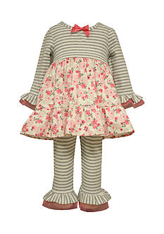 Bonnie Jean Infant Pink Parsley Dress and Legging Set