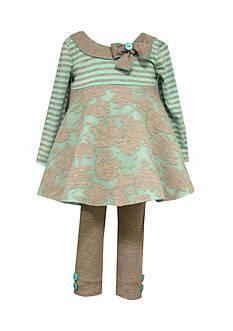 Bonnie Jean Infant Aqua Dress and Legging Set