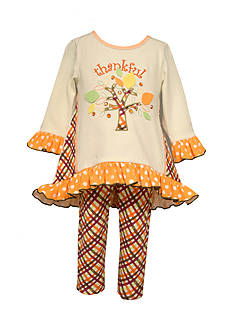 Bonnie Jean Thankful Dress and Pant 2-Piece Set Toddler Girls