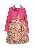 Bonnie Jean Cardigan and Floral Dress Set Toddler