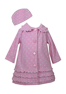Bonnie Jean Dot Fleece Coat Toddler Girls