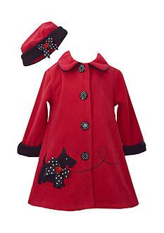 Bonnie Jean Scottie Fleece Coat Toddler Girls